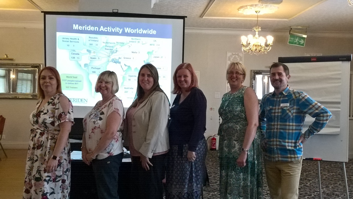 Trainers from the Meriden Family Programme with the Family Intervention Team from Nottinghamshire Healthcare NHS Foundation Trust who attended the event in May.