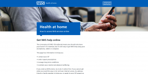 accessing NHS services online